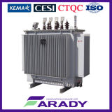 力のDistribution 33kv 11kv 500 KVA ElectricのステップTransformer