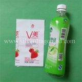 Plastikshrink-Hülsen-Kennsatz für Saft-Flasche