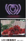 LED-Röhrenblitz RGB-farbenreicher Anblick-Vorhang mit beweglichem Text-Muster