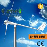 van Turbine van de Wind van het Systeem van het Net 2kw de Horizontale voor Verkoop