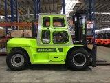 Forklifts Diesel do caminhão do tirante da forquilha de Elevateur 10tone do Chariot