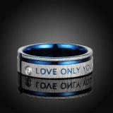 Het populaire die Blauw van de Ring van het Roestvrij staal van de Stijl Dema 316L voor Mensen wordt geplateerd
