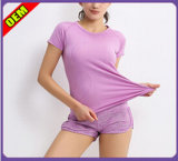 Bela moda T-shirt impresso para as mulheres (W182)