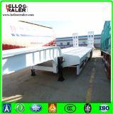 Hochleistungs60 Wellen-niedriger Flachbettschlußteil-niedriger Bett-LKW-halb Schlussteil der Tonnen-Kostenbelastungs-3