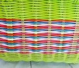 工場供給の純粋なハンドメイドの携帯用プラスチックによって編まれるバスケット、記憶のバスケット、買物かご、浴室のバスケット