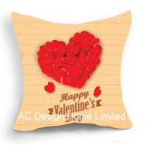 С удовлетворением квадратных рад в День Святого Валентина Дизайн ткань подушка с заполнением