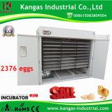 Le meilleur incubateur de vente d'oeufs de poulet de 2376 oeufs complètement automatique