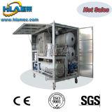 Máquina completamente cerrada de la purificación de aceite del transformador del vacío
