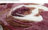 Tapa real de lujo de la cama de la piel Patrón de flor especial de la zalea australiana