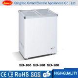 изогнутый 138L/226L/286L/298/378/538L стеклянный замораживатель комода мороженного двери