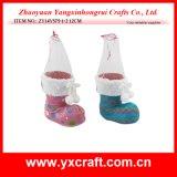 크리스마스 훈장 (ZY15Y171-1-2) 산타클로스와 눈사람 Xmas 시동 크리스마스 스타킹 홀더