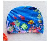Chapeau de natation de gosses, impression mignonne différente de dessin animé