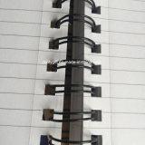 Тетрадь крышки A6 спиральн тетради PP печатание нашивок личная спиральн поли