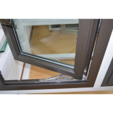 Tissu pour rideaux en aluminium de profil d'interruption thermique enduite de poudre et premier guichet arrêté avec le blocage multi K03018