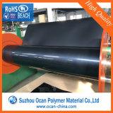 Folha rígida preta lustrosa do PVC da folha plástica para a impressão de tinta UV