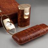 Cohibaのカッター、ライター、加湿器およびSiphot (ES-EB-008)の標準的な優雅のヒマラヤスギのシガーの保湿箱