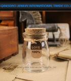 Mini frasco de vidro do alimento dos doces do chá com cortiça para o armazenamento