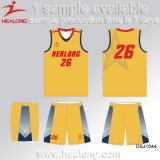 Healong Custom Free Design Basquete Uniforme Atacado Última Equipe Uniforme Basquete Jersey