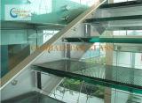 12.76mm закаленное защитное стекло прокатанного стекла/