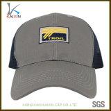 Chapéu tecido do camionista do logotipo da correção de programa do engranzamento de 6 painéis bordado feito sob encomenda