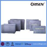 7 cubos ajustados da embalagem com o organizador da bagagem do curso da compressão do saco da sapata