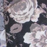 L'armure toile a estampé le tissu visqueux de vêtement de Rose pour la robe de femmes