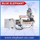 Homemade Multi Spindle 3D CNC Router Carving Machine with Type3 Software