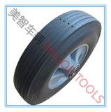 roda 10X2.5 de borracha Semi-Pneumática para carros do vagão