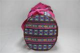 Estilo nacional Pringting de moda com bolsa de ombro PU Bolsa de viagem