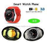 Bluetooth Sport-intelligentes Uhr-Telefon mit voll - Ansicht Rund-Bildschirm W8