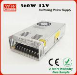 Muestra gratuita 12voltios 30 amperios Fuente de alimentación 360W 12V de la SMP Controlador de LED de escritorio para la impresora 3D.