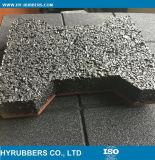 La gomma di sicurezza copre di tegoli la pavimentazione per il campo da giuoco