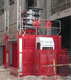 構築の起重機の中国の製造者2t容量の倍のケージのエレベーター