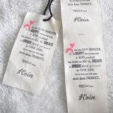 Прикрепленный Hangtag бумаги ткани 2PC Kraft пятна для одежды