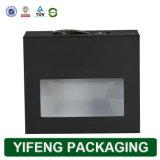 Le papier noir de l'emballage d'affichage boîte avec fenêtre en PVC (FJ-158)