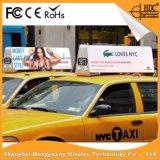 P5mm a todo color laterales dobles impermeabilizan la visualización de la muestra de la tapa LED de la azotea del taxi/del coche para hacer publicidad