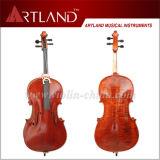 Solid flammé violoncelle avec Sprit vernis couleur marron