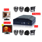 FCC RoHS H. 264 Mobile DVR do CE, 8CH para o auto escolar com 7 Inch LCD School para Bus Security