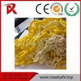 Barrière de chaîne en plastique d'avertissement de trafic routier de la chaîne en plastique
