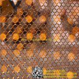 Anillo de alambre de malla de metal de habitaciones cortina del tabique