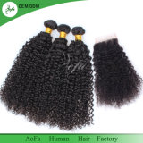Vente en gros d'usine de cheveu d'Aofa toutes sortes de parties 100% de cheveux humains de Vierge