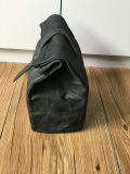 革トリムが付いているカスタマイズされた高品質によってワックスを掛けられるキャンバスの昼食袋