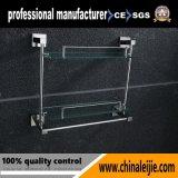 Полка вспомогательного оборудования ванной комнаты высокого качества установленная стеной двойная стеклянная