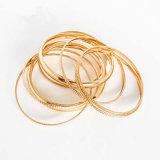 金カラーは女性のためにセットされた多層魅力のブレスレットの腕輪を満たした