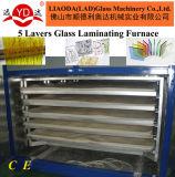 セリウムの熱い製品ガラスLamimatedの炉機械5つの層の