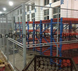 鋼線から成っている網の塀