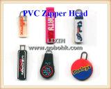 지퍼 홀더, 연약한 Keychain 의 USB 덮개를 위한 연약한 PVC 분배 기계