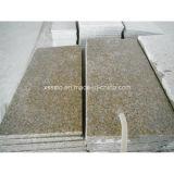 Granito giallo fiammeggiato e lucidato che pavimenta le mattonelle per la pavimentazione