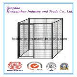 Chenil de crabot de treillis métallique/cage extérieurs soudés de crabot enduits par PVC