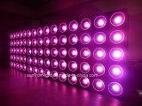 O diodo emissor de luz DJ da matriz do clube de noite ilumina-se